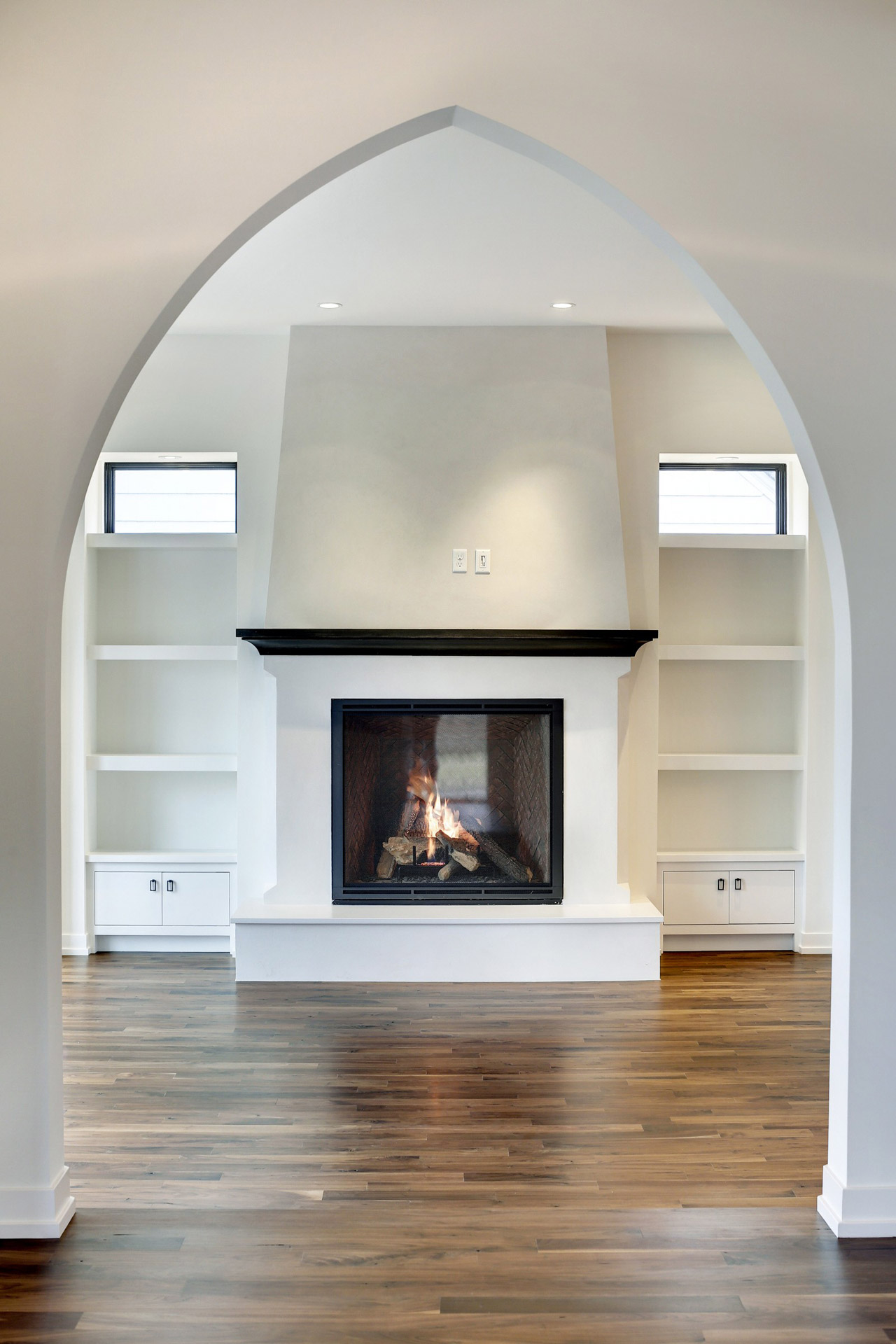 Fireplace and Archway